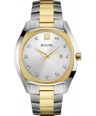Bulova 98D125 Mens Diamonds Two Tone Steel Bracelet Watch