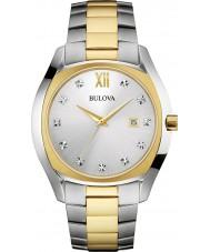 Bulova 98D125 Mens Diamonds Two Tone Steel Bracelet Watch