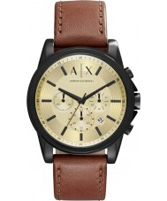 Armani Exchange AX2511 Mens Outerbanks Dark Brown Chronograph Watch