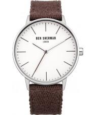 Ben Sherman WB009P Mens Burgundy Cotton Strap Watch