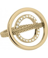 Skagen JRG0014S7 Ladies Camilla Gold Ring With Swarovski Crystals - Size O