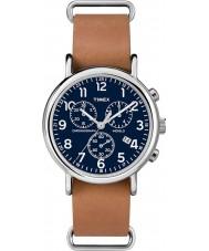 Timex TW2P62300 Weekender Brown Strap Chronograph Watch