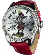 Disney by Ingersoll Ladies Classic Diamante Minnie Mouse Red Watch