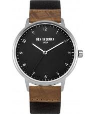 Ben Sherman WB049TE Mens Portobello Heritage Grey and Tan Strap Watch