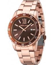 Police 14494JSR-12M Las Vegas Rose Gold Steel Bracelet Watch