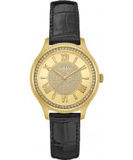 Guess W0840L1 Ladies Madison Black Leather Strap Watch