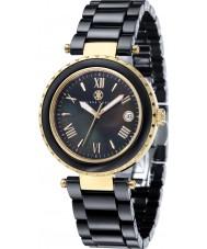 Klaus Kobec KK-10005-05 Ladies Venus Gold and Black Ceramic Watch