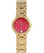 Krug Baümen 5119DM Charleston 4 Diamond Red Dial Gold Strap
