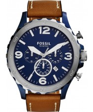 Fossil JR1504 Mens Nate Brown Chronograph Watch