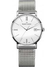 Maurice Lacroix EL1087-SS002-111-1 Mens Eliros Silver Mesh Steel Bracelet Watch