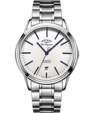 Rotary GB90161-02 Mens Les Originales Tradition Automatic Silver Tone Steel Watch