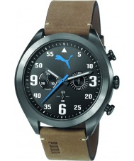 Puma PU103871003 Fame Brown Leather Strap Chronograph Watch