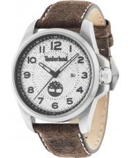 Timberland 14768JS-04 Mens Leyden Dark Brown Leather Strap Watch