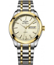 Rotary GB90174-03 Mens Timepieces Legacy Two Tone Steel Bracelet Watch