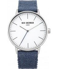 Ben Sherman WB009U Mens Blue Cotton Strap Watch