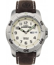 Timex T46681 Mens White Brown Expedition Traditional Watch