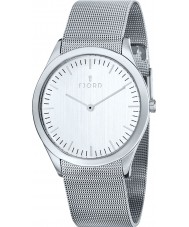 Fjord FJ-3007-22 Mens Munan 2 Hand White Silver Mesh Watch
