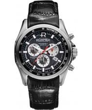 Roamer 220837-41-55-02 Mens Rockshell Chronograph Black Leather Strap Watch