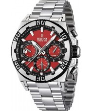Festina Mens Chrono Bike 2013 Red and Silver Watch