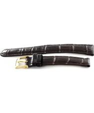 Krug Baümen 15058BRNG Enterprise Gents Black Leather Replacement Strap