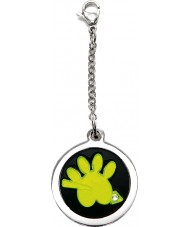 I Puppies PF-003-G Dog and Cat Steel Green Tag For Collar Medallion