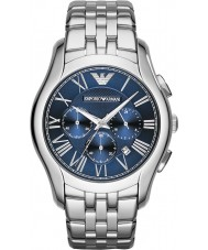 Emporio Armani AR1787 Mens Classic Chronograph Silver Steel Bracelet Watch