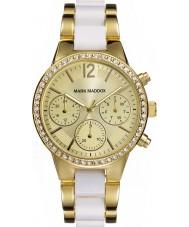 Mark Maddox Ladies White Dreams Two Tone Bracelet Watch