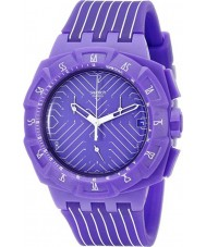 Swatch SUIV401 Chrono Plastic - Purple Run Watch