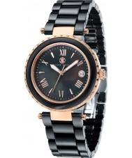 Klaus Kobec KK-10005-06 Ladies Venus Rose Gold and Black Ceramic Watch