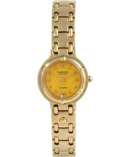 Krug Baümen 5120DL Charleston 4 Diamond Yellow Dial Gold Strap