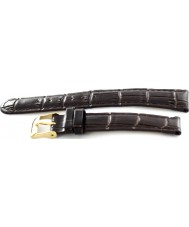 Krug Baümen 15058BRNL Enterprise Ladies Black Leather Replacement Strap