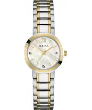 Bulova 98P151 Ladies Diamonds Two Tone Steel Watch
