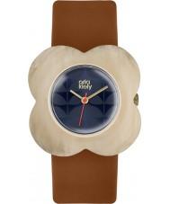 Orla Kiely OK2122 Ladies Oversized Poppy Tan Leather Strap Watch