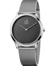 Calvin Klein K3M2112X Mens Minimal Silver Mesh Watch