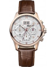 Ingersoll INQ015SLRS Mens Soho White Brown Watch