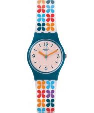 Swatch LN151 Ladies Paseo De Gracia Multicoloured Silicone Strap Watch