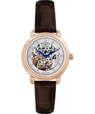Rotary GS90505-06 Mens Les Originales Jura Automatic Skeleton Rose Gold Watch