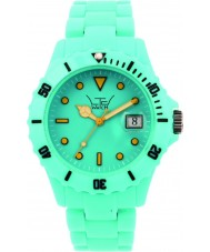 LTD Watch LTD-120119 All Turquoise Plastic 3 Hand Watch