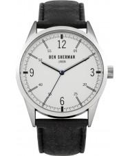 Ben Sherman WB051B Mens Black Leather Strap Watch
