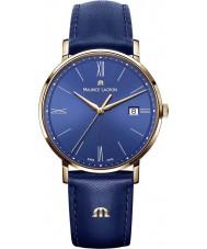 Maurice Lacroix EL1087-PVP01-410-1 Mens Eliros Blue Leather Strap Watch