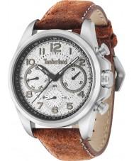 Timberland 14769JS-13 Mens Smithfield Dark Orange Leather Strap Watch