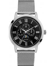 Guess W0871G1 Mens Delancey Silver Steel Bracelet Watch