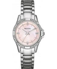 Bulova 96L206 Ladies Crystal Silver Steel Bracelet Watch