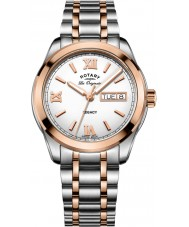 Rotary GB90175-06 Mens Timepieces Legacy Silver Steel Bracelet Watch