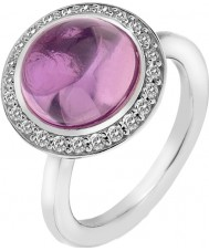 Emozioni Ladies Laghetto Ring with Pink Glass