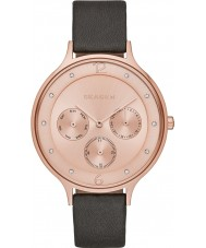 Skagen SKW2392 Ladies Anita Grey Leather Multifunction Watch