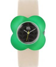 Orla Kiely OK2123 Ladies Oversized Poppy Cream Leather Strap Watch