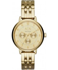 Armani Exchange AX5377 Ladies Payton Gold Steel Bracelet Watch