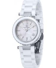 Klaus Kobec KK-10006-01 Ladies Venus Steel and White Ceramic Watch