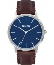 Nixon A1058-879 Mens Porter Brown Leather Strap Watch